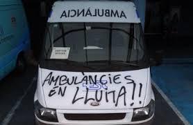 ambulancia pintada huelga